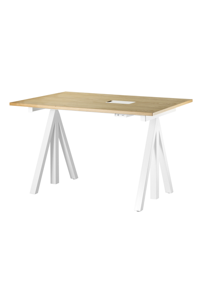Desktop for height adjustable table frame