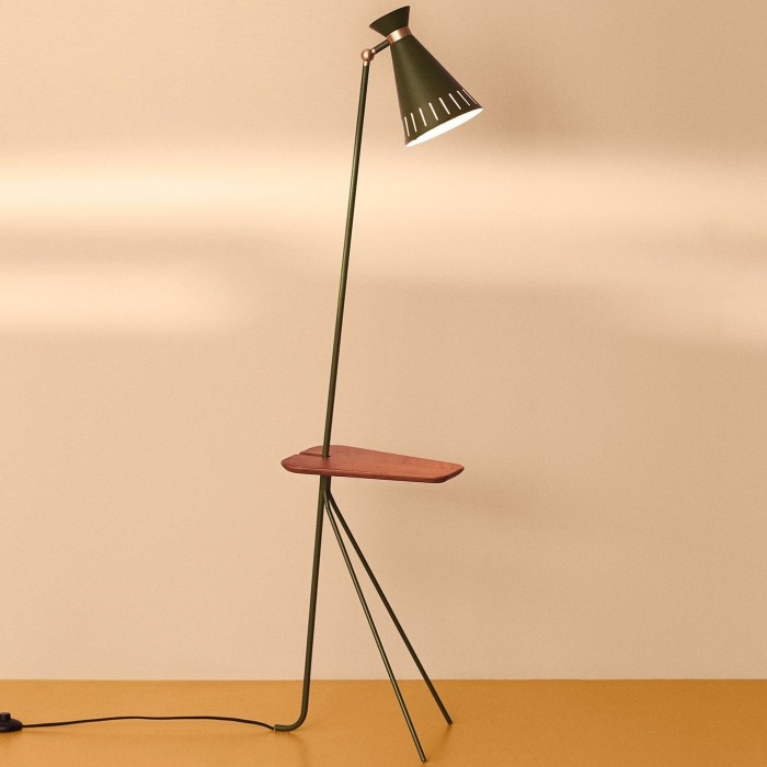 Cone Floor Lamp with table-2