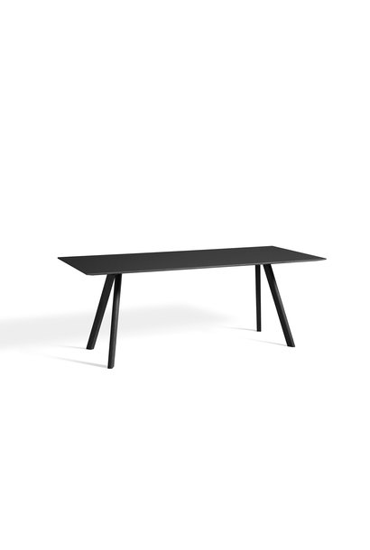CPH 30 Table - Black water-based lacquered solid oak