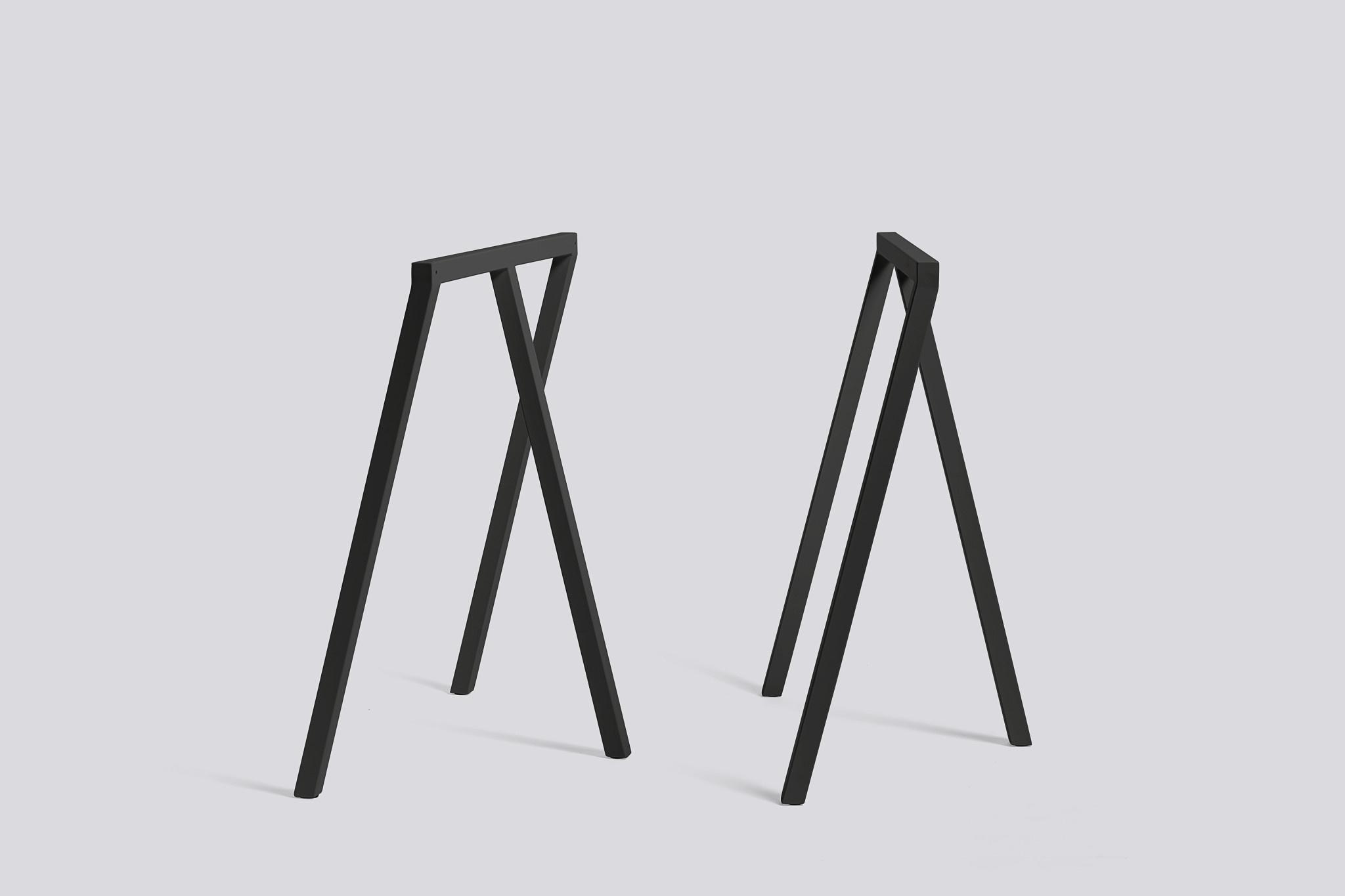 Loop Stand Frame H72/B100cm Black steel (SET)**-1