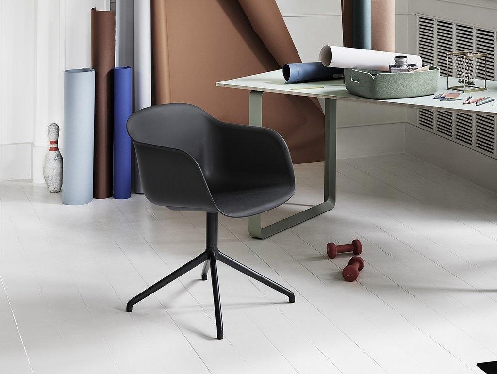 Fiber armchair swivel base w.o. return-2