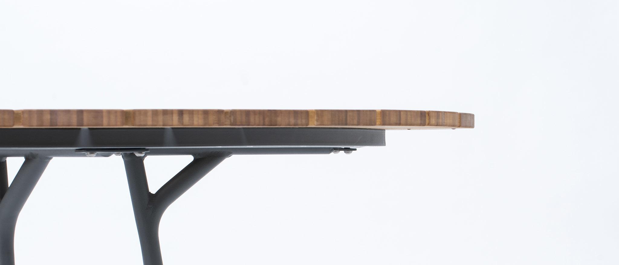 Circle Dining Table Bamboo-5