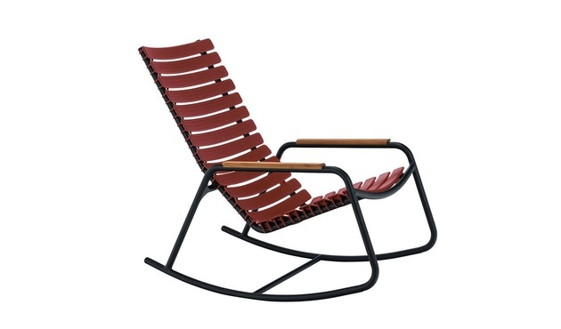 Clips rocking chair - with bamboo armrest-7