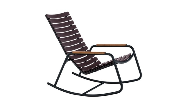 Clips rocking chair - with bamboo armrest-1