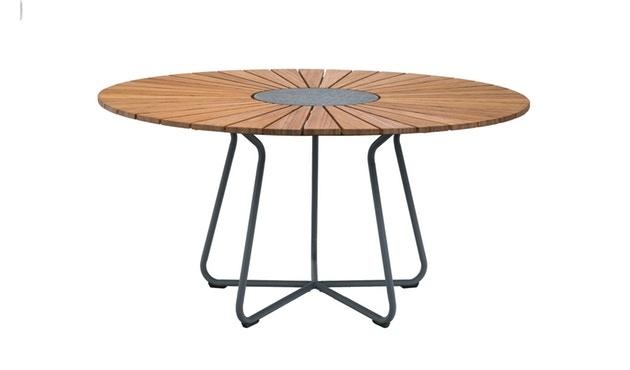 Circle Dining Table Bamboo-3
