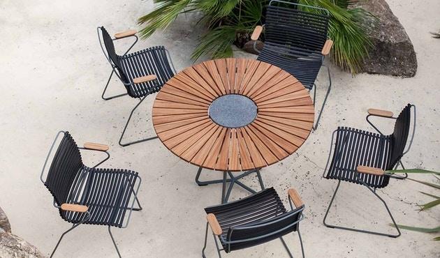 Circle Dining Table Bamboo-2