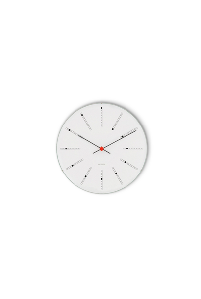 Bankers wall clock white/black/red
