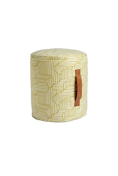 Mini Paddy pouf Yellow