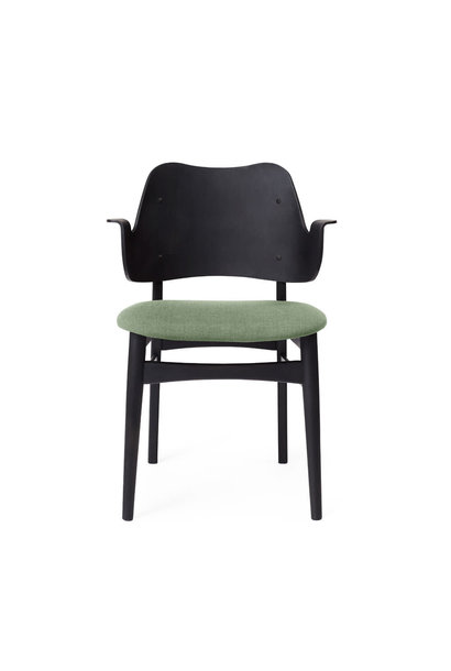 Gesture Chair Black Lacuqered Front Upholstery