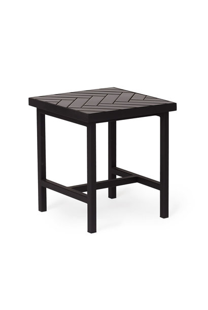 Herringbone Tile Side Table