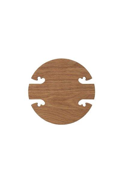 Gourmet wood trivet
