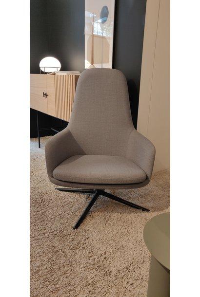 Era lounge chair high - swivel base black  Fame hybrid 1201