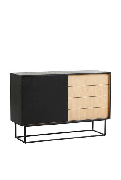 Virka sideboard - high - black/oak