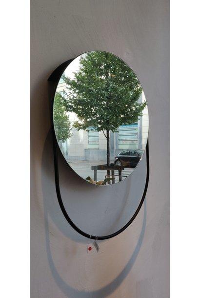 Toonzaalmodel Verde mirror - black powder coated metal