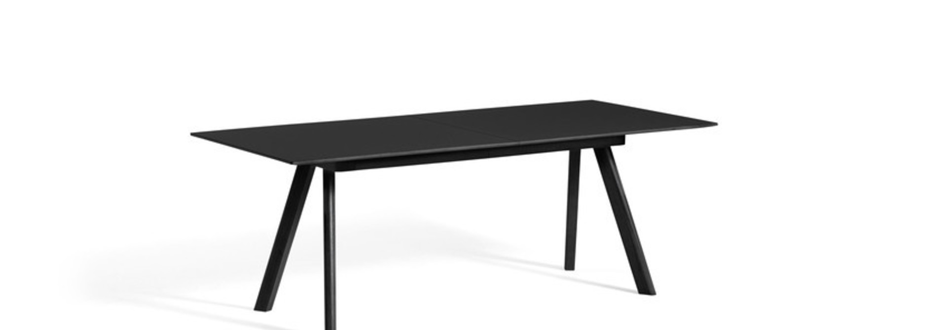CPH 30 Extendable - Black stained solid oak