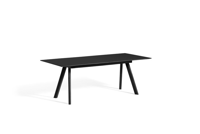 CPH 30 Extendable - Black stained solid oak-1