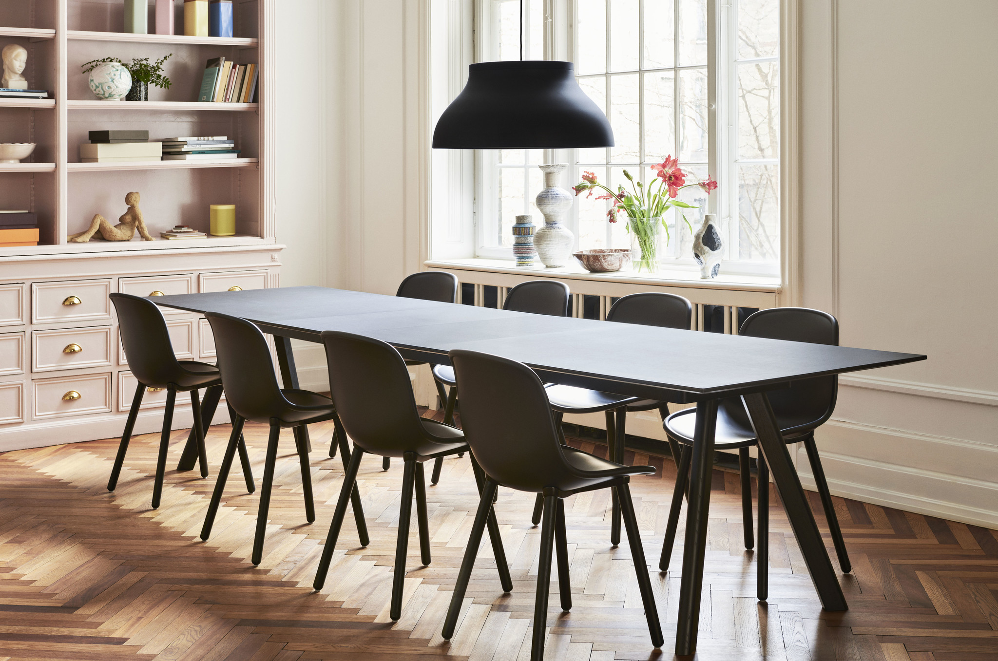 CPH 30 Extendable - Black stained solid oak-2