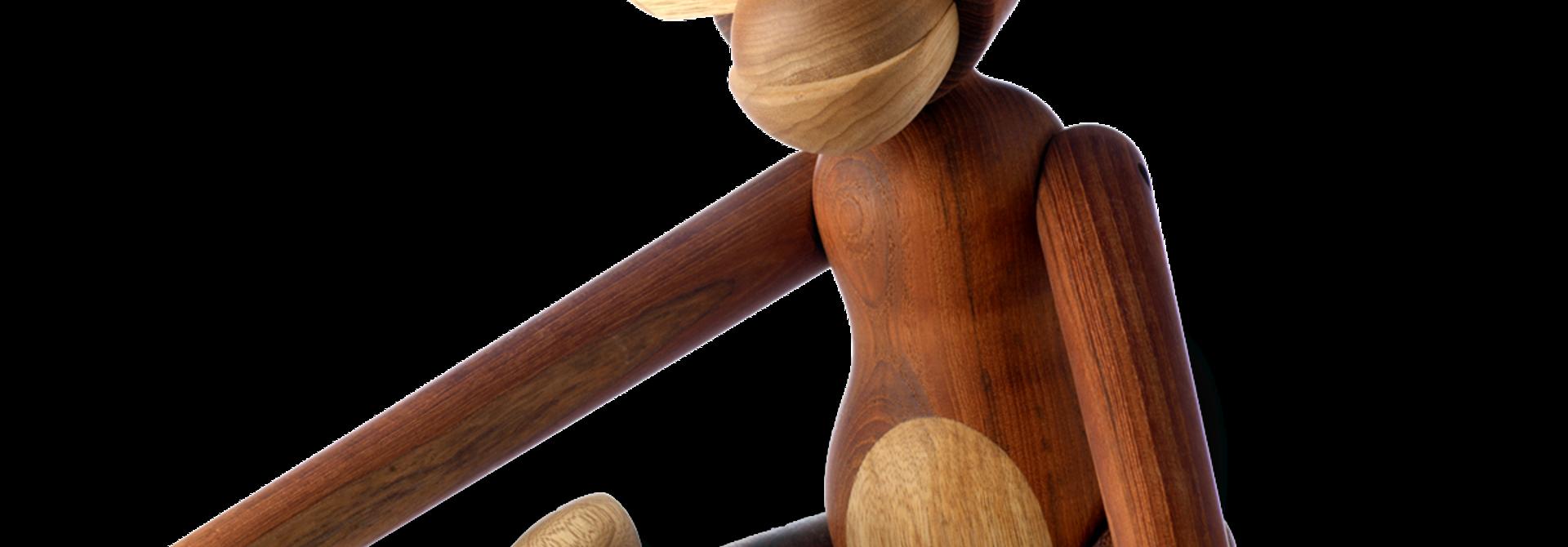 Monkey - Medium - 28cm Teak and limba