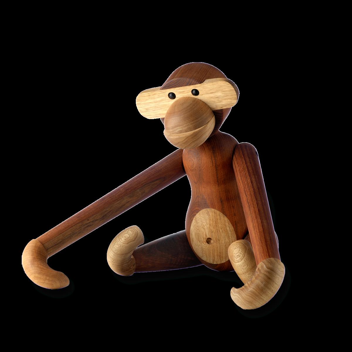 Monkey - Medium - 28cm Teak and limba-1