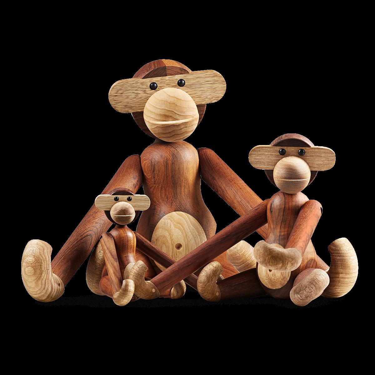 Monkey - Medium - 28cm Teak and limba-2