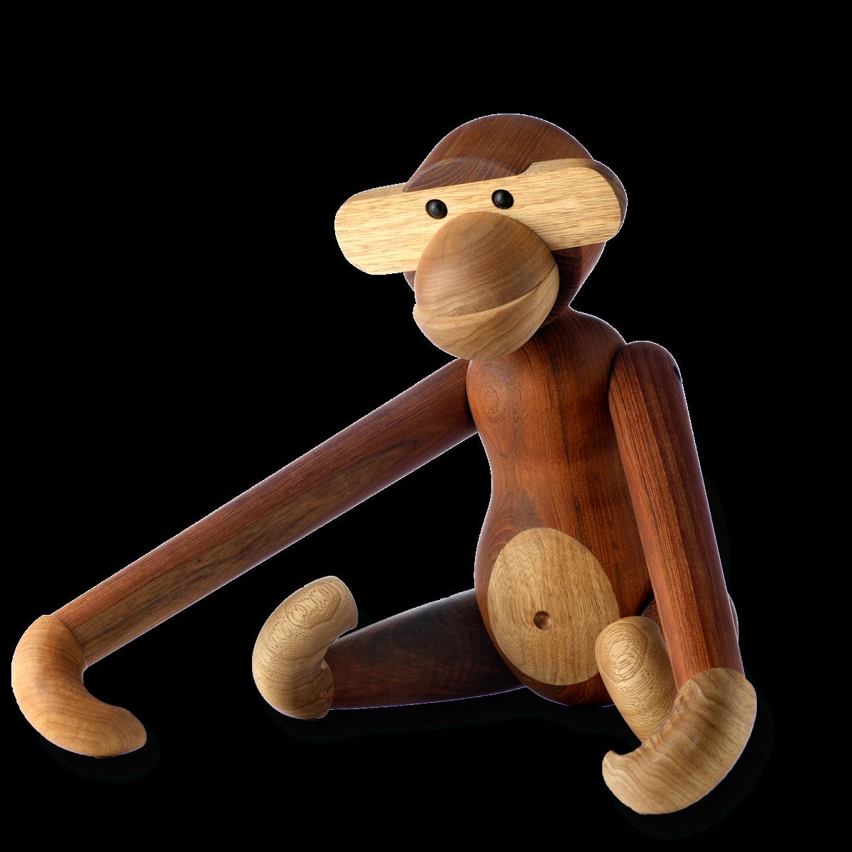 Monkey - Large - 46cm Teak and limba-1