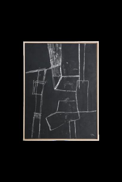 Framed brutalism painting black