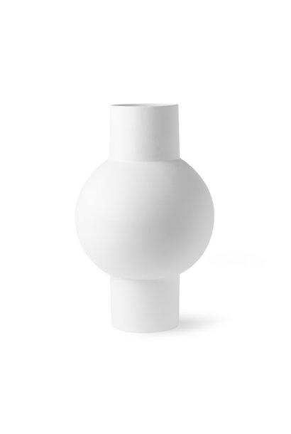 Matt white vase M