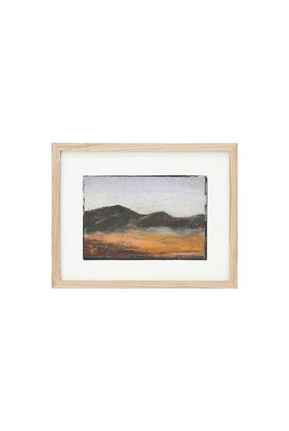 Tiny art frame S Mountains