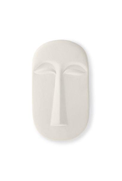 Mask wall ornament L Matt white