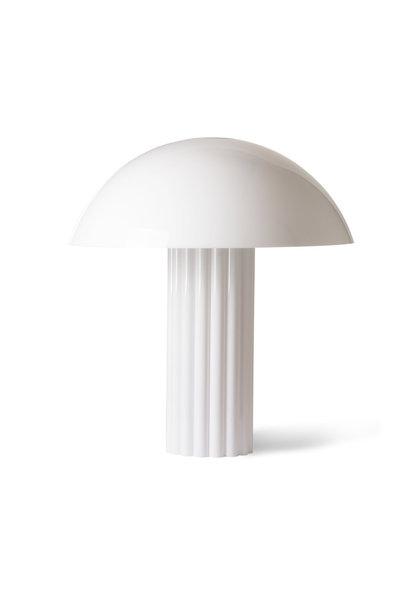 Acrylic cupola table lamp white