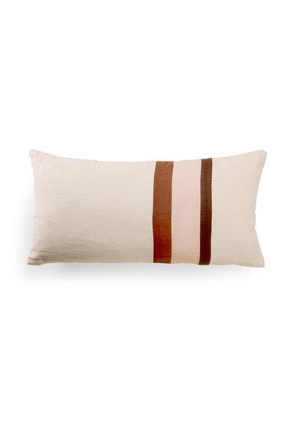 Linen striped cushion a (70x35)
