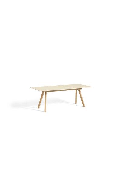 Toonzaalmodel CPH 30 Extendable - Matt lacquered solid oak base Off white linoleum 200/400 + 2 x extendable leaf 50x90