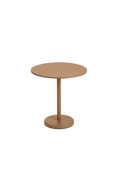 Linear Steel Cafe Table Round