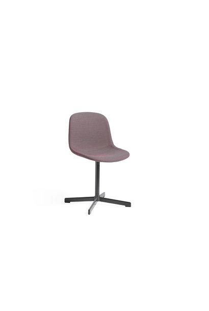 Neu 10 Swivel Base Upholstery - Soft black Powder coated aluminium