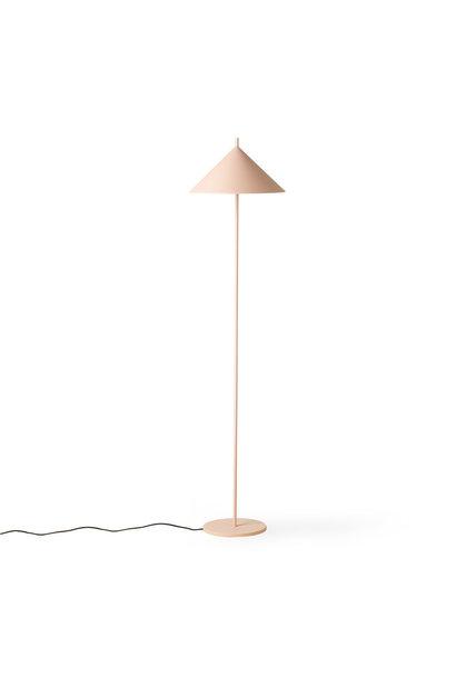 Metal triangle floor lamp