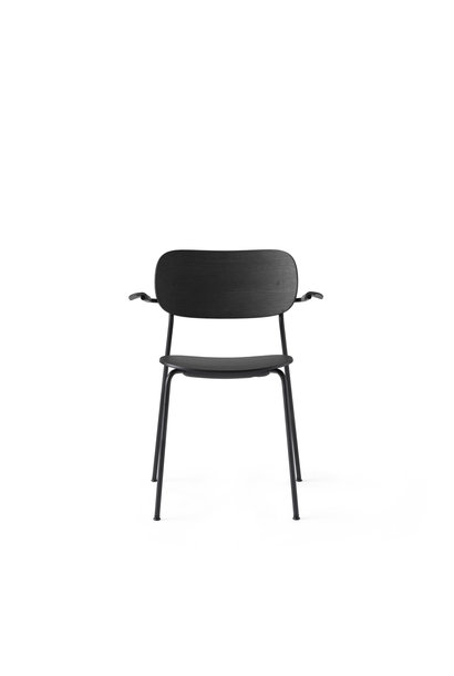 Co Dining Chair armrest - Black powder coated steel