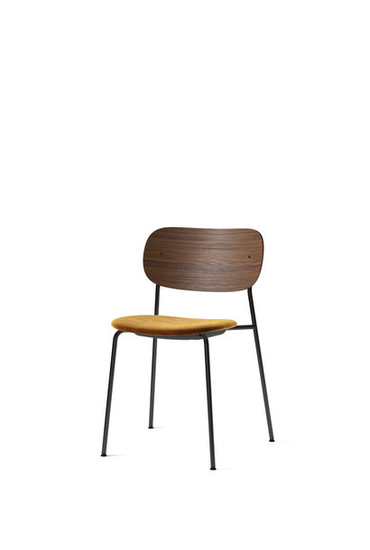 Co Dining Chair - Black powder coated steel - seat upholstery