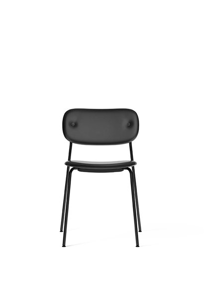 Co Dining Chair - Black powder coated steel - full upholstery