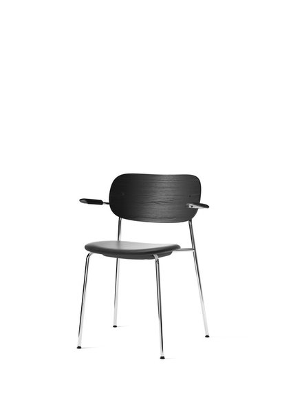 Co Dining Chair armrest - Chrome - seat upholstery
