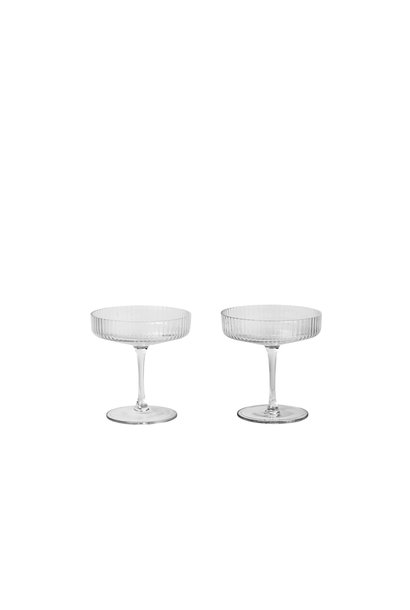 Ripple Champagne Saucers (s/2)