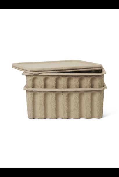 Paper Pulp Box (s/2) - Large