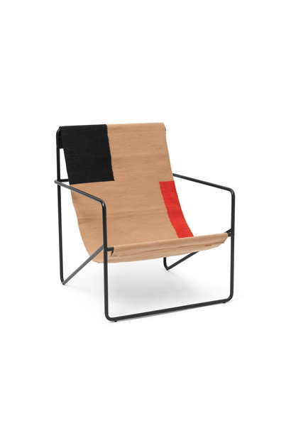 Desert Lounge Chair - Black/Block