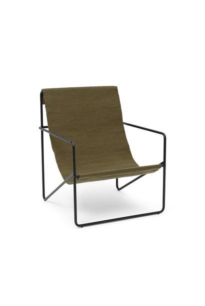 Desert Lounge Chair - Black/Olive
