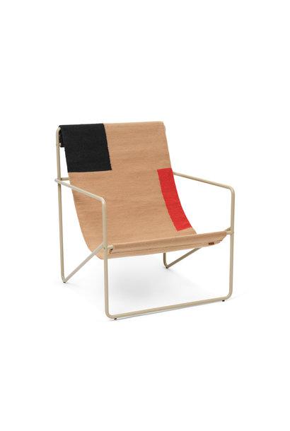 Desert Lounge Chair - Cashmere/Block
