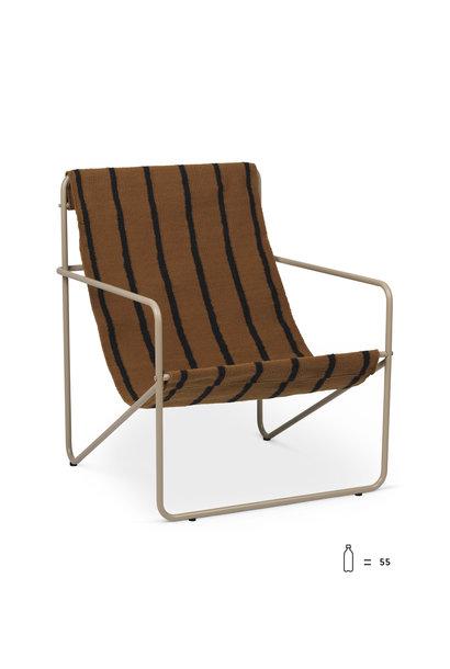 Desert Lounge Chair - Cashmere/Stripe