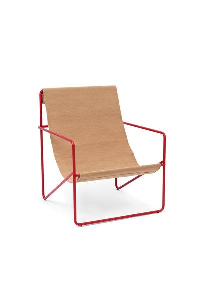 Desert Lounge Chair - Poppy Red/Sand