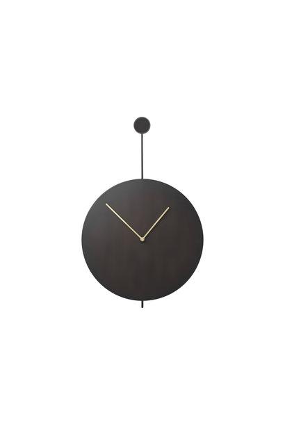 Trace Wall Clock - Black/Brass