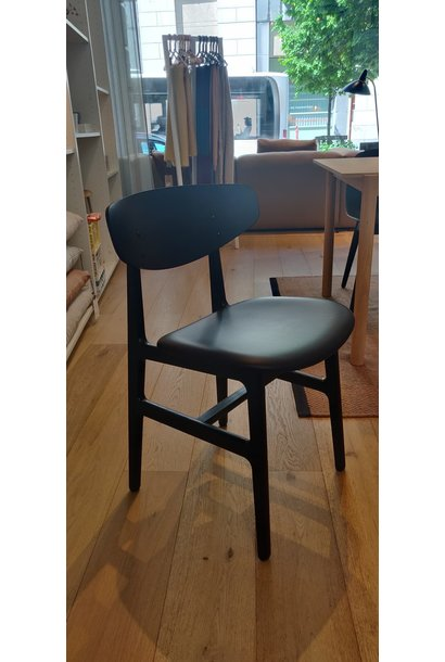 Toonzaalmodel Siko Dining Chair - Blue Oak Frame Blue Leather