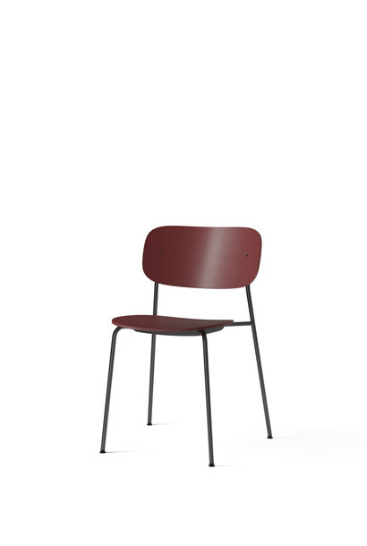 Co Dining Chair Plastic - Black powder coated steel