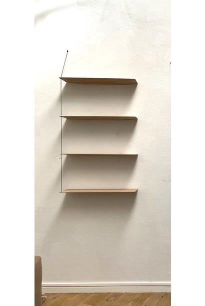 Toonzaalmodel Stedge Shelf - White pigmented lacquered oak 80 cm
